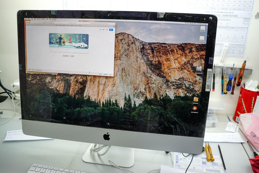iMac螢幕換新成功